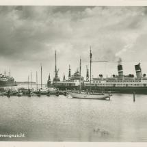 Ansichtkaart 'Haven van Schiedam'.