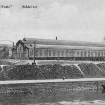 Ansichtkaart Werf 'Gusto' Schiedam