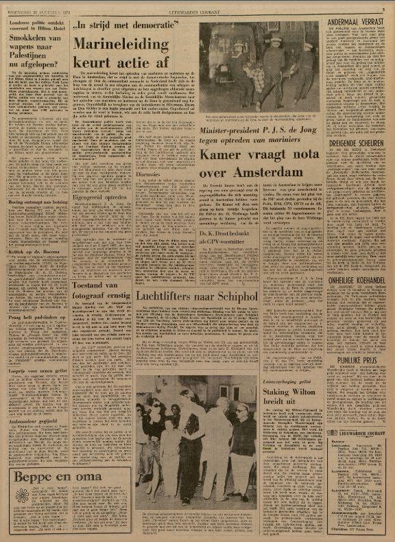 Leeuwarder courant : hoofdblad van Friesland 26-08-1970