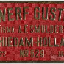 Bouwplaat Gusto Bnr. 529-1922 'Douwe Oukes'.