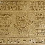 Werfplaat IHC Den Haag (Bronskleurig).