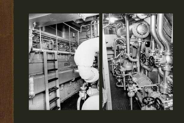 De machinekamer van de CO. 281 & CO. 282 'Angostura' & 'Solimões'