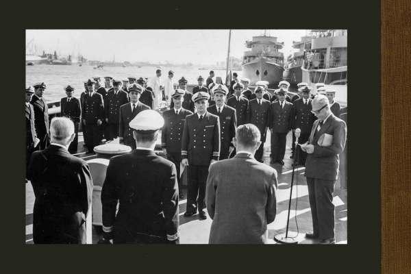 De overdracht van de CO. 281 & CO. 282 'Angostura' & 'Solimões' aan de Braziliaanse Marine