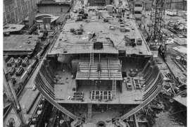 CO. 860 bouw gevorderd op 13 april 1971