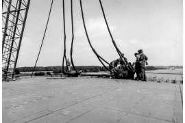 CO. 860 vertrek van casco dekhuis van Slikkerveer naar Schiedam begin september 1971