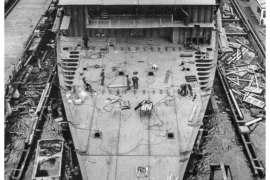 CO. 860 bouw gevorderd op 9 februari 1971