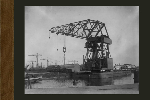 Bnr. 552 150 tons drijvende kraan 'Gusto' voor eigen gebruik