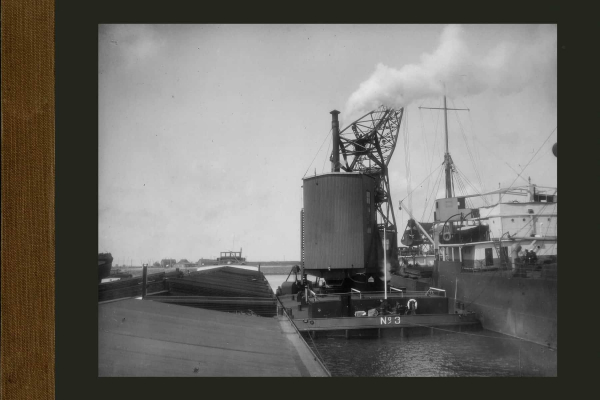 Bnr. 563 10 tons drijvende grijper kraan voor Rotterdamse haven