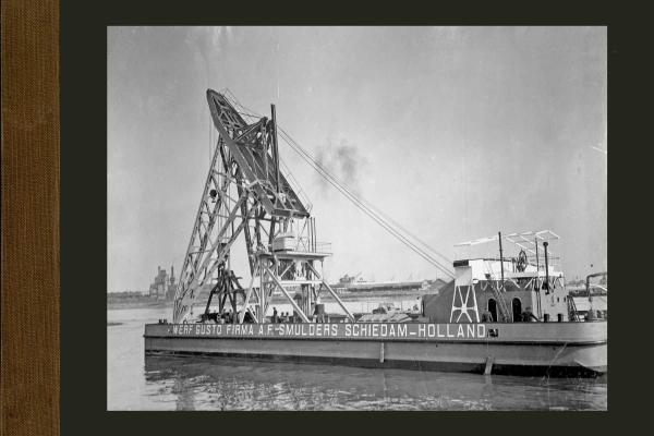Bnr. 614 80 tons drijvende kraan voor Melilla (Noord Afrika)