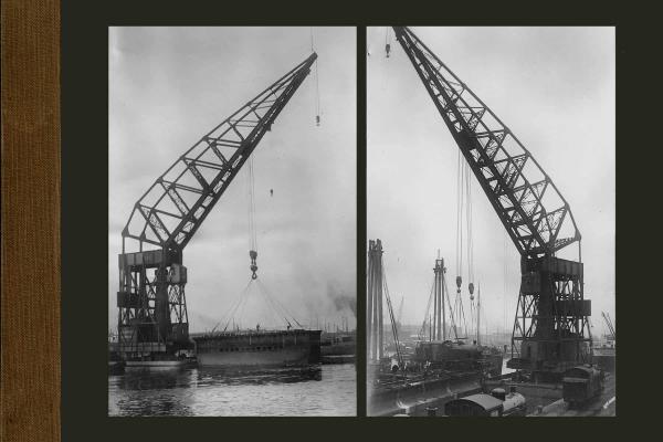 Bnr. 482 150 tons drijvende kraan voor Antwerpen