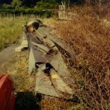 De resten van het personeelsgeschenk, gemaakt door Gust Romijn in 1962/1963