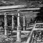 P.J. Mulders Artist impression van Schraperinstallatie voor de mijnbouw.