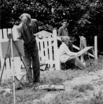 P.J. Mulders tijdens een van de 'buitendagen' van Beati