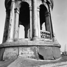 Het torentje, dat bovenop het hoofdkantoor van de werf te Schiedam stond