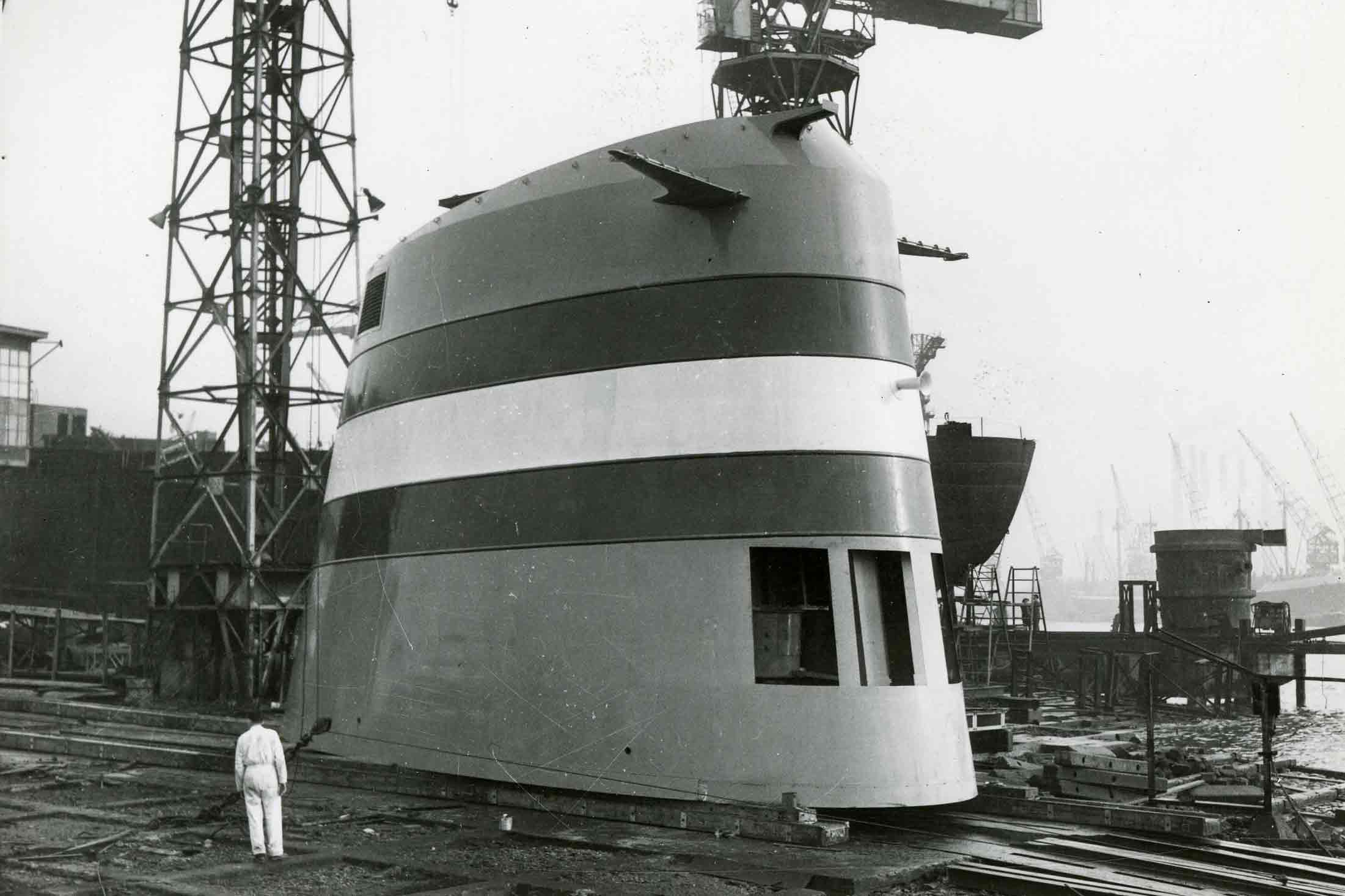 Bnr. 125: Schoorsteen ss Statendam (1956)