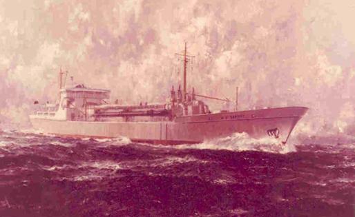 Schilderij van de sleephopperzuiger 'W.D. Seaway'
