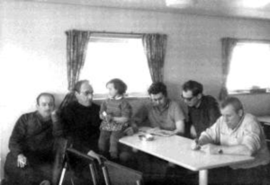 Aart, Herman, the little girl, Helmut, Alex (Joop) and Paul.
