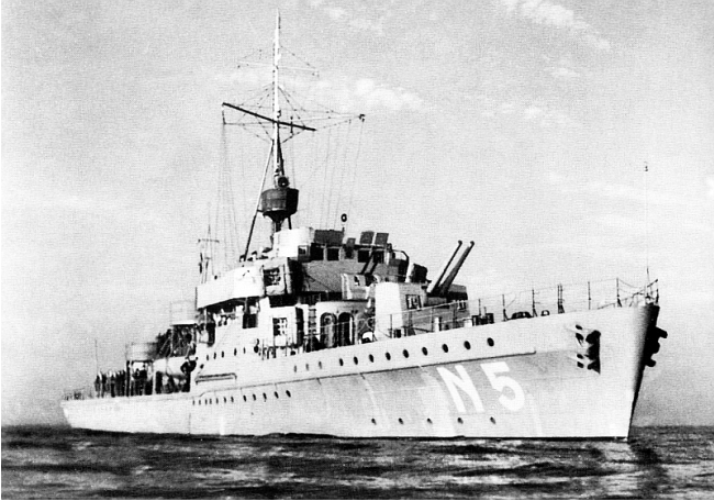 K3- Hr. Ms. van Speyck in 1946