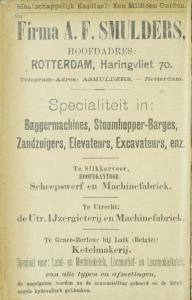 1895 Gemeentegids Rotterdam advertentie A.F. Smulders