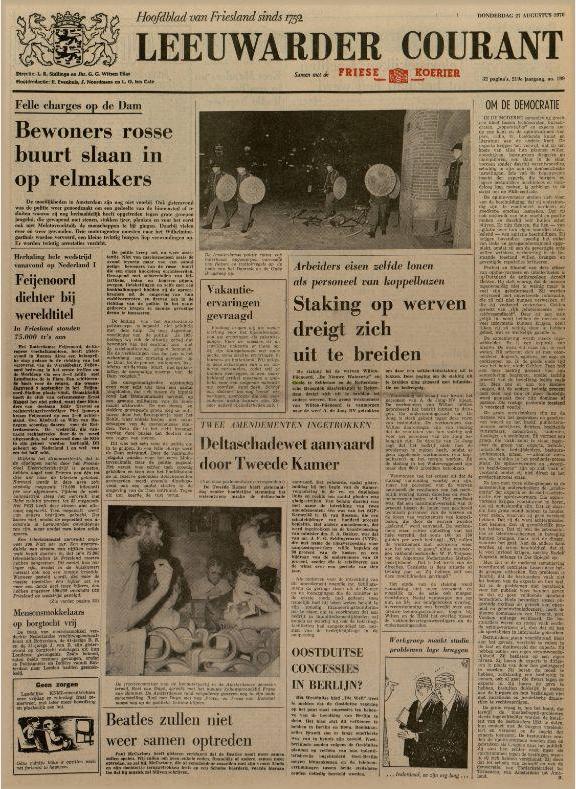 Leeuwarder courant : hoofdblad van Friesland 27-08-1970
